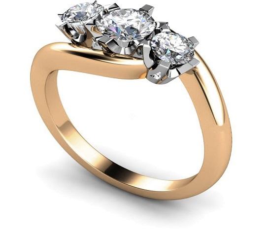 3 Round Three Stone Diamond Ring - Hatton Garden